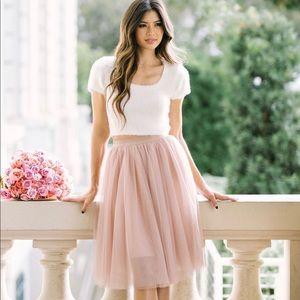 Morning Lavender Eloise Tulle Midi Skirt
